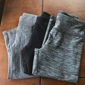 Lot of 3 girls Justice cropped leggings. Size 10